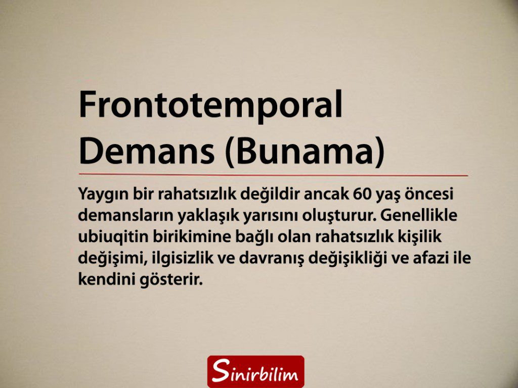 Frontotemporal Demans (Bunama)